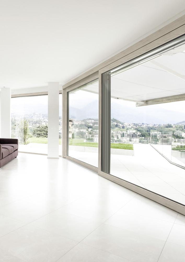 Beautiful porte scorrevoli legno gallery acrylicgiftware - Profili alluminio per finestre ...