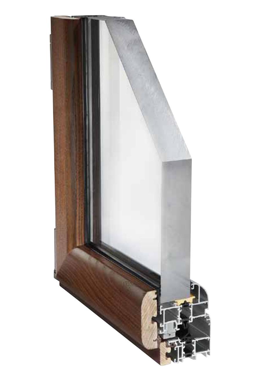 Serramenti legno allumino finestre taglio termico - Profili in legno per finestre ...