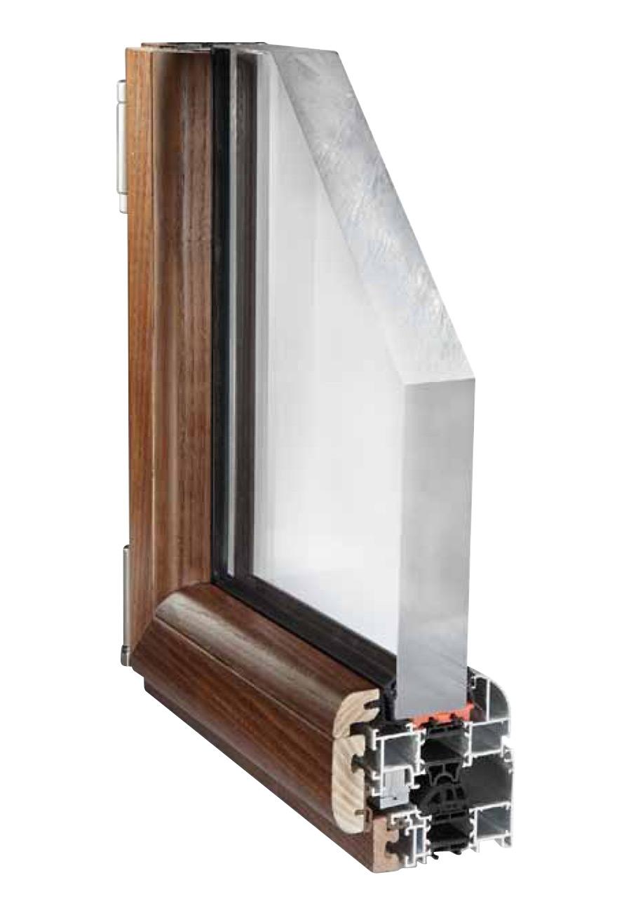 Infissi legno alluminio taglio termico serramenti misti for Serramenti legno