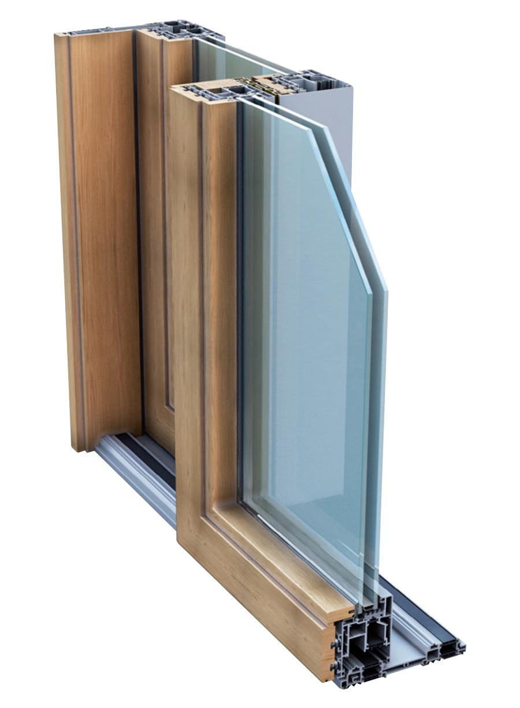 Porte scorrevoli legno alluminio profili per finestre a - Serramenti per finestre ...